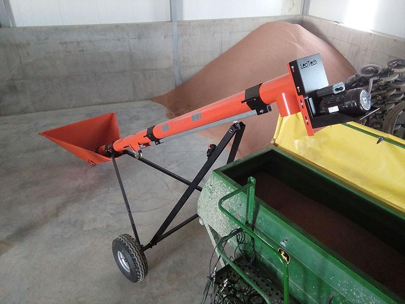 Vis à grains électrique série agricole moteur en haut